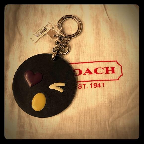 Coach Accessories - Coach Winky Face Keychain/Bag Charm NWT